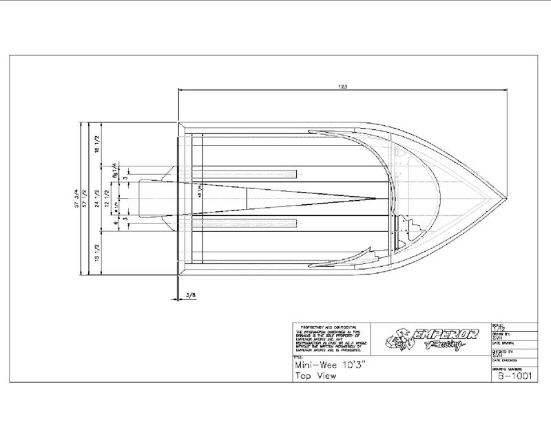 Emperor-Mini-Wee top view drawing