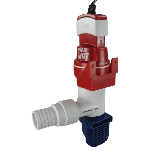 low profile automatic bilge pump upright